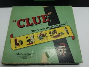 VINTAGE-CLUE-DETECTIVE-BOARD-GAME-ORIGNIAL-PARKER-BROTHERS-GREAT-PICKER-FIND
