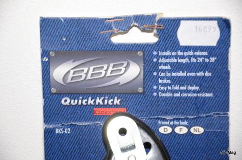 """BBB Béquille de Vélo pr roue de 24/"""" à 28/"""" NEUF BKS-02 QuickKick"""