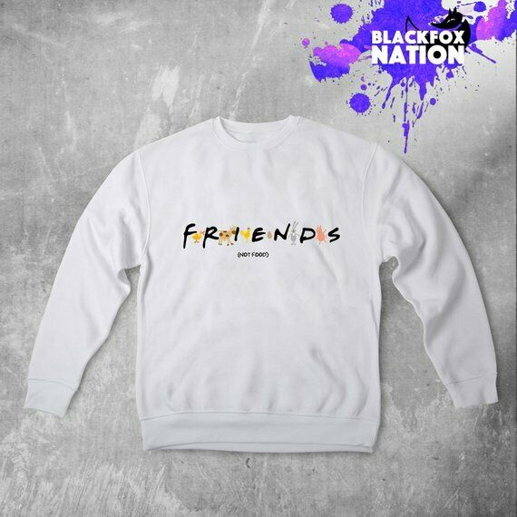 240384b3 Friends Not Food Sweatshirt Friends TV Clothes Vegan Unisex Shirt Gift  Design nsujcf1082-Hoodies & Sweatshirts