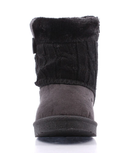 Fashion Rubber Sole Side Zip Ankle-High Winter Faux Suede Fur Girls Kids Boots