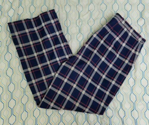 VTG 70s 80s Women's Bleyle Plaid Pants Blue Red W… - image 1