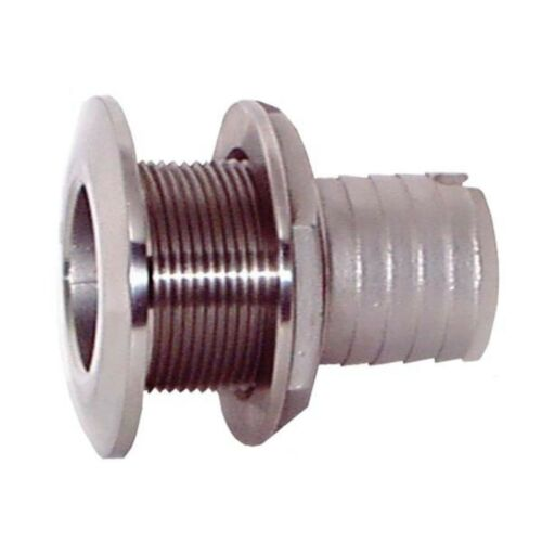 Groco Stainless Steel Thru-Hull with Nut 1 in