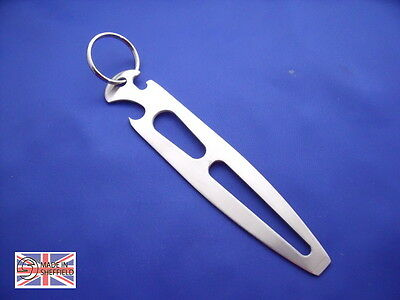 Stainless Steel Shackle Key, Multi Purpose Yacht and Boat Keyring Marine Quality