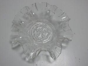 rarität alte gewellte  Schale Pressglas Glasschüssel Schüssel ca. 1930