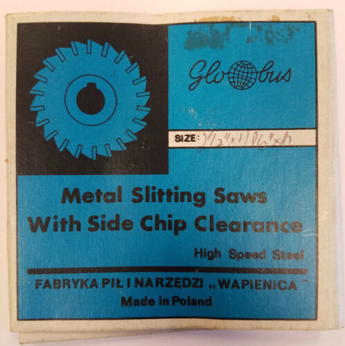 GLOBUS HSS Slitting Saw w// Side Chip STR Tooth 2-1//2 x 1//16 x 1 #8B-B0098