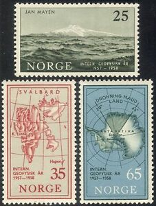 Norway-1957-IGY-Polar-Antarctic-Exploration-Science-Mountains-Maps-3v-n33420
