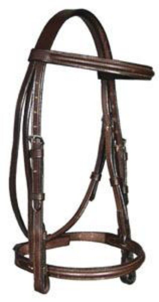 Dever Ascot Show Bridle Padded Leather Bridle - Two Colours