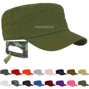 Men-Cap-Army-Hat-Cadet-Castro-Military-Patrol-Baseball-Summer-Camo-Camouflage