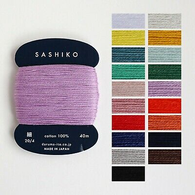 Embroidery thin type Yokota Daruma Sashiko Thread Sashiko Boro 170m