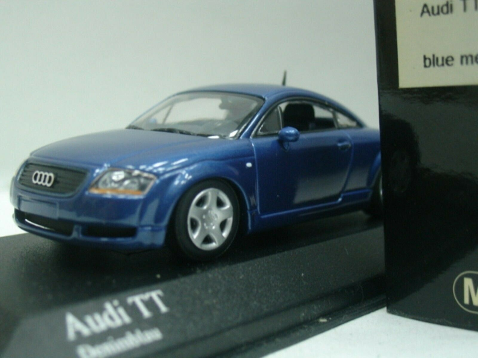 WOW EXTREMELY RARE Audi TT Coupe Phase 2 1.8T Quattro 2000 bluee 1 43 Minichamps