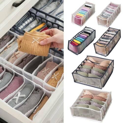 3//7//11 Grid Underwear Bra Sock Ties Drawer Closet Divider Storage Box Organizer