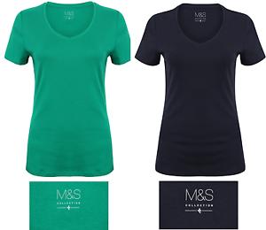 ex M/&S AUTOGRAPH Luxe Cupro Versatile Basic Top T-Shirt