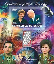 VOSTOK 5&6 space Bykovski Tereshkova Khrushch Tchad 2013 LUX tchad2013-55 IMPERF