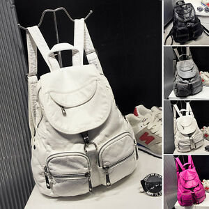 Women-039-s-Faux-Leather-Backpack-Rucksack-Daypack-Travel-Book-School-bag-Purse-Cute