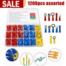 1200pcs Assorted Insulated Electrical Wiring Connectors Crimp Terminals Set Us