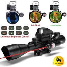 4-12X50EG R&G Illuminated Rifle Scope & Holographic 4 Reticle Sight&Red Laser AP