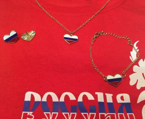 WM 2018 Armband Halskette Кубок мира Russland Russia Fan Set Ohrringe
