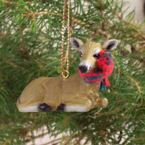 DEER Doe with Scarf Tiny One Miniature Christmas ORNAMENT