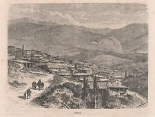 Antique print Dereköy, Kırklareli 1879 Turkey Derekoy