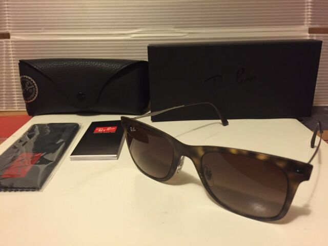 58855f1dbb Authentic Ray-Ban Wayfarer Sunglasses Rb4210 Matte Havana Brown Frames 50mm