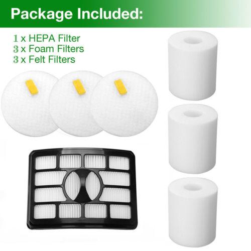 1 PK HEPA /& 3 Foam-Felt Filter for Shark Rotator Pro Lift-Away NV500 NV501 NV502