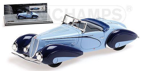 MINICHAMPS 437116160 - Delahaye Type 135 M cabriolet blue   1 43