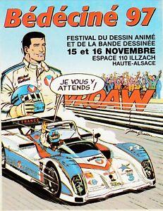 GRATON MICHEL VAILLANT Autocollant Pub 13° Festival BD ILLZACH Bédéciné 1997