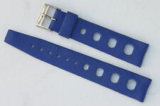 Rare color blue Swiss Tropic 18mm vintage dive watch strap 1960s New Old Stock