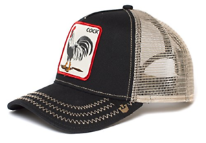 One Size White Rooster Men/'s Animal Farm Snap Back Trucker Hat Goorin Bros
