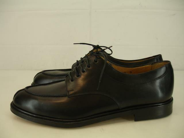 Mens 10.5 D M Charles Jourdan Black Leather Split Split Split Toe Oxford Dress shoes Moc Toe 1ccfa7