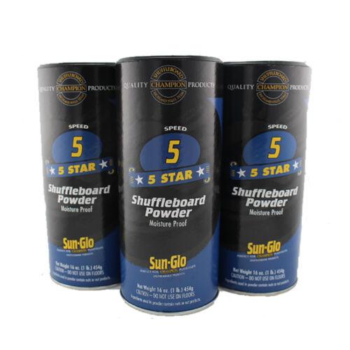 5 speed Sun Glo Shuffleboard  powder 3 Pack wax