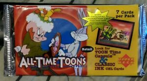 Upper Deck All-Time-Toons 1996 Pack, NEW Unopened 5 Cards In Pack