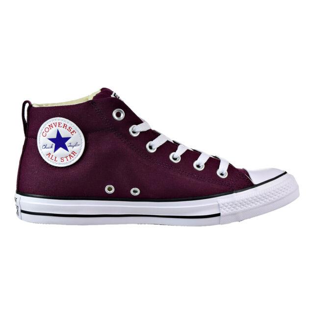 Converse Chuck Taylor All Star Street Mid Men's Shoes Dark Sangria Black 157533f