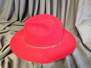 Stetson Pony Express Cindy Red Cowgirl-Cowboy Hat Size 6 7 8 Wool ... 36b699e804f