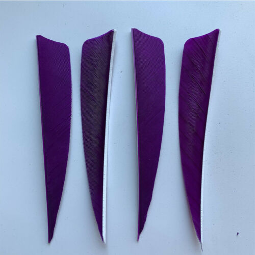 50PCS 4 inch Purple Shield Fletches Fletching Vanes Feathers RW LW