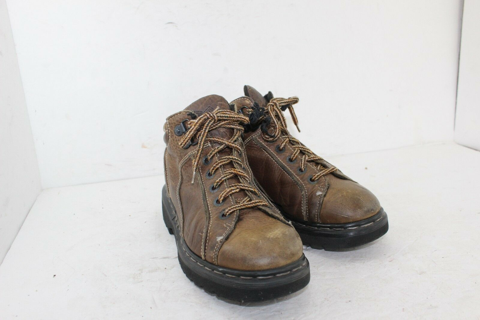 DR MARTENS BOOTS SIZE 8 BROWNS IN GREAT CONDITION LEATHER MADE IN ENGLAND