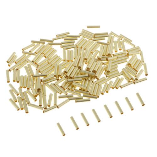 200pcs Einzelhülsen Crimp Kabelverbinder Unisolierte Stoßverbinder
