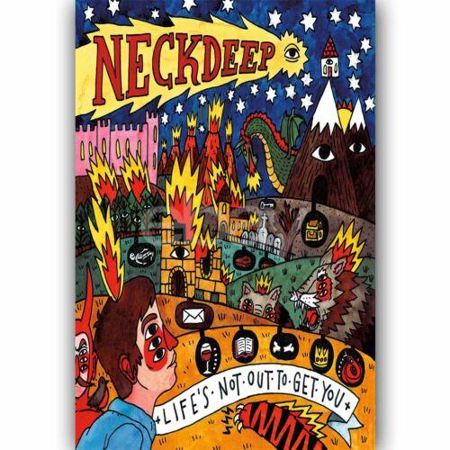 Custom Neck Deep Silk Poster Wall Decor