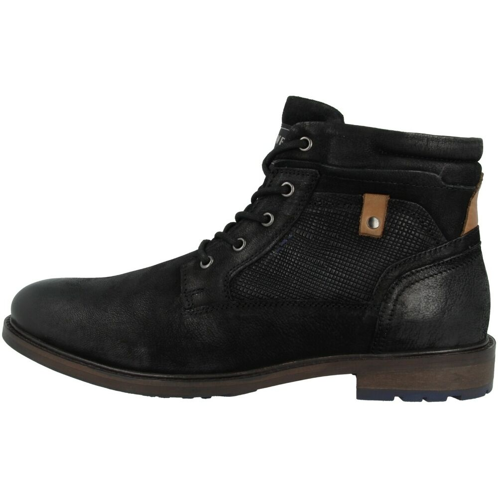 Original S. Oliver 5-15218-23 Chaussures Men Messieurs Boots Bottines Black 5-15218-23-001 Belle Apparence