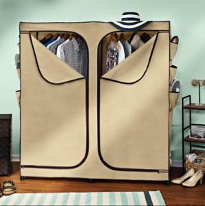 Clothing Rack Cover Heavy Duty Portable Wardrobe Clothes Rack Closet Organizers Ebay