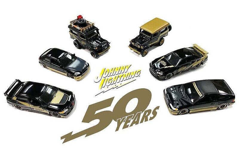 Johnny  lumièrening 1 64 50th Anniversaire d'importation de voitures (Ensemble de 6) voiture modèle jlcp 7197  meilleur prix