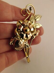 Gold Filled Floral Brooch