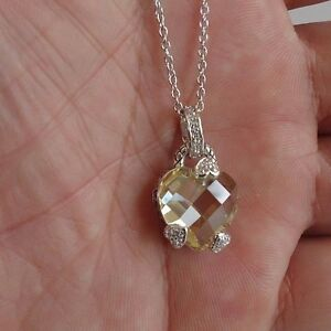 7-25-CT-LAB-YELLOW-WHITE-DIAMOND-HEART-NECKLACE-PENDANT-925-STERLING-SILVER