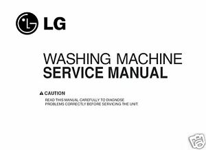 Lg Washing Machine Service Manual Ebay