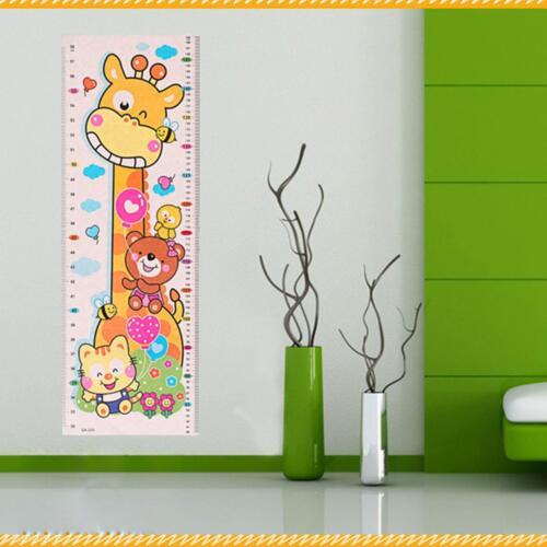 Cartoon Animals Baby Child Growth Height Measurement Chart Wall Sticker Mural