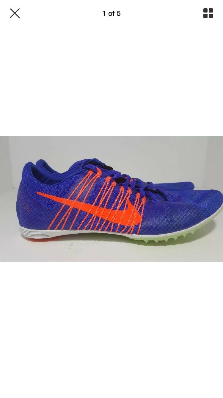 Nike Zoom Victory 2 Running Track Shoes 555365-487 Men's Sz 11.5  Racer Blue NNB