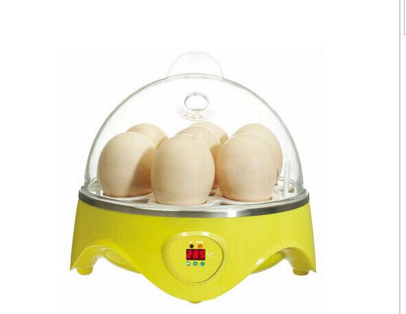 Mini Incubadora 7 Huevo Capacidad Automático Digital Pollo Pato Pájaro Hatch