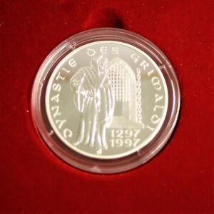 Médaille en argent Monaco 700 ans de la dynastie Grimaldi