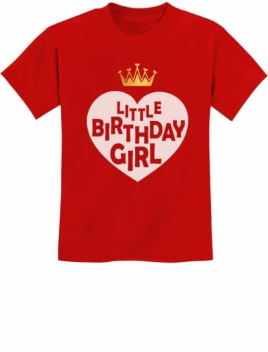 Little Birthday Girl  Hearted Crown Birthday Gift Idea Youth Kids T-Shirt