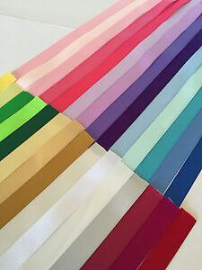 SATIN-Ribbon-Double-Faced-32-colours-CUT-1-metre-length-of-each-colour